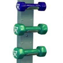 Vinyl Coated Dumbbells - 10-Piece Set with Wall Rack
