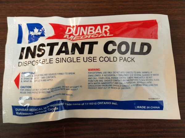 Dunbar Medical Single Use Instant Cold Pack. The use of ice packs is one of our suggestions for how to heal a sprained ankle at home.