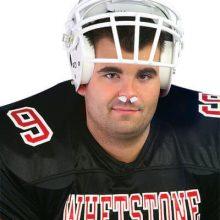 Athlete wearing Mueller Sports Medicine Sterile Nasal Sponges