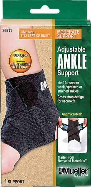 Mueller Sports Medicine Green Adjustable Ankle Support