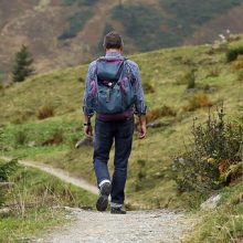Man hiking. This Is one of the most popular outdoor activities in North America.