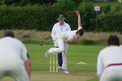 Fast bowler delivery in cricket
