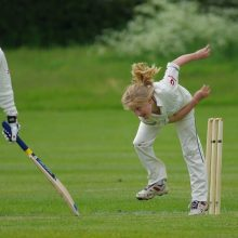 Girl Bowling In Cricket