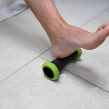 Using a foot roller to treat planter fasciitis