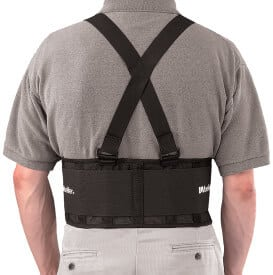 Mueller Back Support with Suspenders